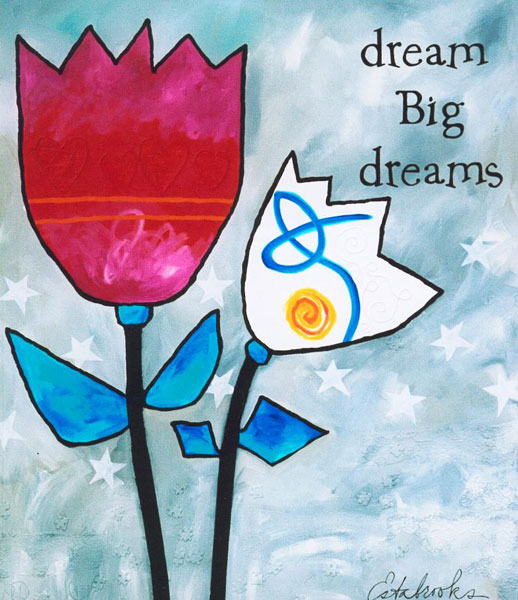 Dream Big Dreams by Donna Estabrooks - $2250, 60x72, Acrylic and ...
