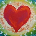 Donna Estabrooks - Heart with Butterflies - sold