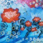 Donna Estabrooks - Poppies and Dragonfly