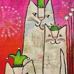 Donna Estabrooks - Party hats on party cats