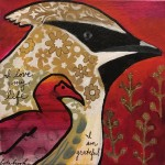 Donna Estabrooks - wax wing and cormorant totem